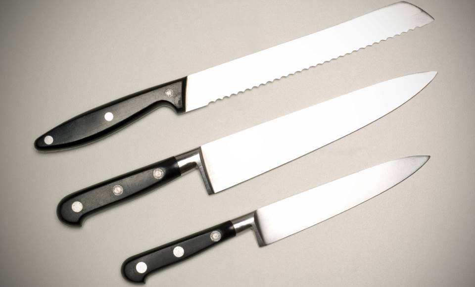 Stainless steel kitchen knives - 3 indispensable knives